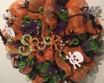 "Halloween ""Spooky"" Wreath"