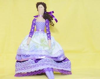 Violet Stuffed Doll Tilda