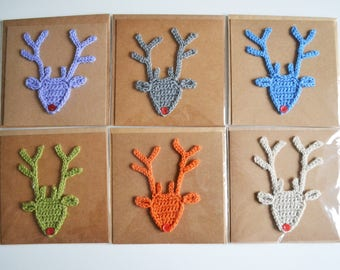 Crochet Rudolph Christmas Cards
