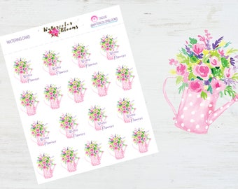 SALE! Watering Cans | Planner Stickers | Gardening | Summer | Flowers | Garden