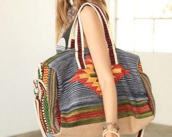 Boho Chic Luxury Boston Bag Small Weekender - Very Free People Vibe