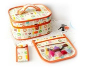 Zipper cross stitch quilting sewing Embroidery case Clear project bag Needle organizer Scissors case Sewing travel set storage Craft gift