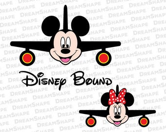 Disney Bound SVG Files, Family Vacation SVG Files, Mouse Holiday Bound SVG Files, Aeroplane Bound Family Vacation Svg Cut Instant Download