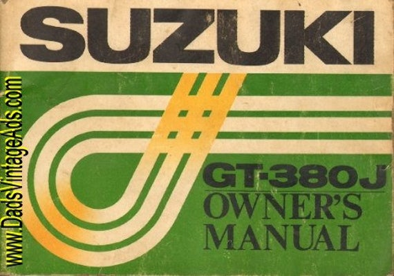 1972 Suzuki GT-380J Owner's Manual #mm59