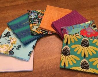 Anna Maria Horner's latest fat quarter bundle 8 pieces (Floral Retrospective and Luminous) Morning
