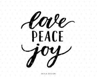 Peace Love Joy Quotes Enchanting Love Joy Peace Print  Etsy