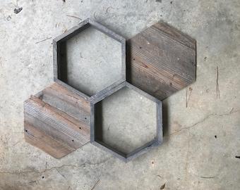 Honeycomb shelves, honeycomb wall decor, hexagon wall decor, hexagon art, hexagon shelves, honeycomb decor, geometric decor, geometric shelf