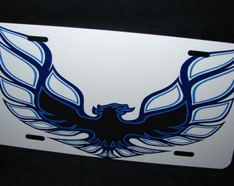 Firebird License Plate Tag For Car Trans am Pontiac Metal Aluminum