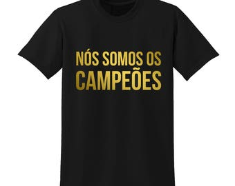 We Are The Champions Tshirt Portugal Football France 2016 Euros Winner Gold |