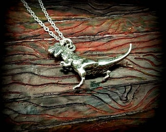 t-rex sterling necklace