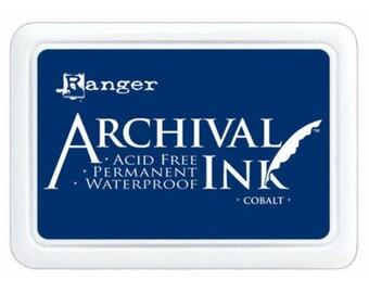 Ranger Archival Ink Cobalt Blue - Blue Ink - Archive Ink - Blue Archive Ink - Ranger Blue Ink - Permanent Blue Ink - Waterproof Ink