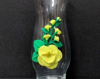 """6.5"""" decorative vase (yellow)"""