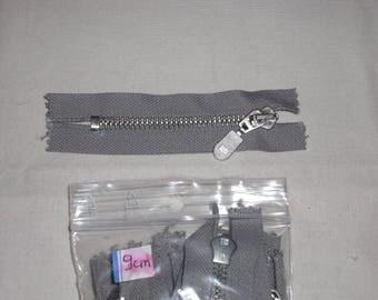Zip grey taupe 9 cm