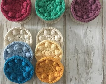 Reusable Cotton Face Wash Pads - Cotton Face Scrubbies - Crochet Face Scrubbies - Reusable Face Wash Pads - Gift For Her - Mothers Day Gift