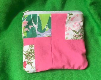 Pink Bubblegum Floral Purse