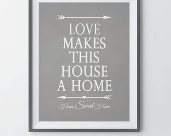 Living Room Wall Decor Living Room Wall Print Wall Decor Entryway Wall Art Prints Foyer Housewarming Gift First Home Gift Home Quote Print