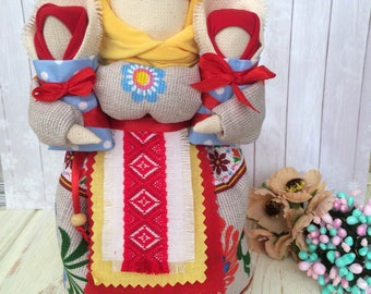 Ukrainian traditional doll,doll for bisness, for boss , souvenir, amulet, motanka, textile doll, beautifull doll, best pressent, wedding gif