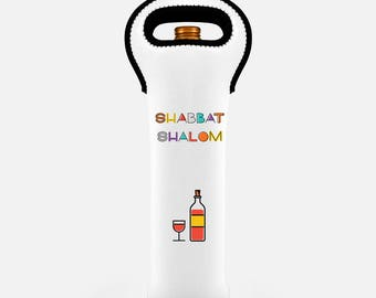Shabbat Kiddush Wine Tote