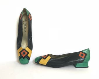 Size 8 1/2 Margaret Jarrold Office Heels / 1980s Vintage Shoes