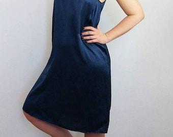 ON SALE Vintage Filippa K Silk Cami Dress / Slip   Sleevless Dress  Lingerie   Size S-M