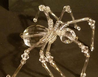 Crystal Beaded Spider with Swarovski Crystals