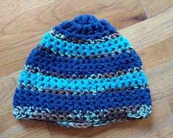 Blue Beanie - Handmade Crochet