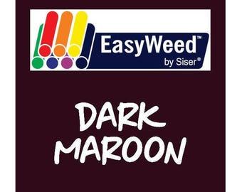 Siser EasyWeed Heat Transfer Vinyl - HTV - Dark Maroon