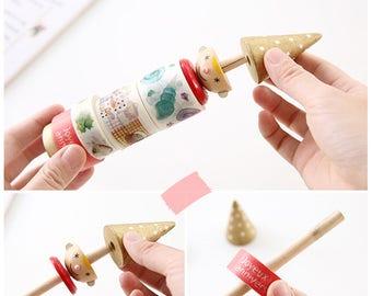 Cute Washi tape storage Wooden - Washi Tape Organizer -Washi Tape Holder- Washi Tape Cards - Washi Tape Dispenser- Planner Washi Accessories