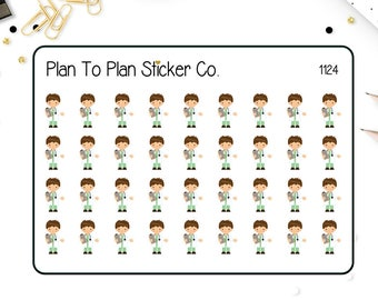 1124~~ Doctor (Male) Appointment Reminder Planner Stickers.