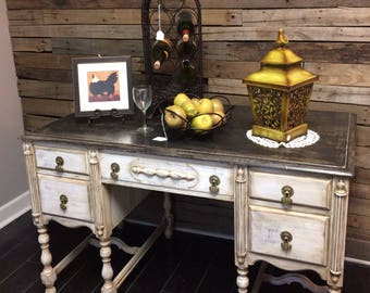 Handpainted vintage desk