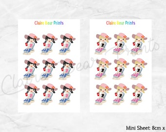 BEACH GIRLS Planner Stickers (4 options)
