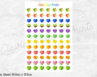 FRUIT HEARTS Planner Stickers