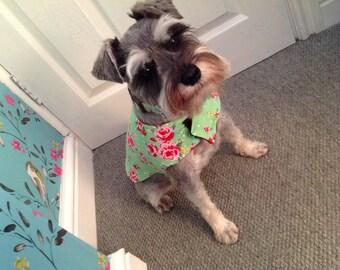 Spring floral dog coat.