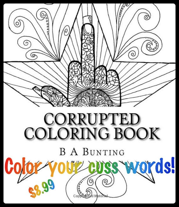 corrupted coloring book swear word coloring book