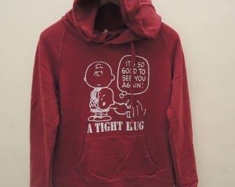Vintage Snoopy's A Thight Hug Peanuts Sweatshirt Hoodies Cartoon Pull Over Sweater