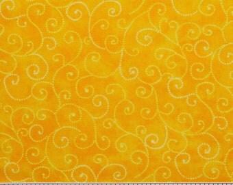 "Moda Basics ""MARBLE SWIRLS""  ~ 9908-13 Bright Yellow ~ Tonal Yellow with Swirls ~ Half Yard Increments"