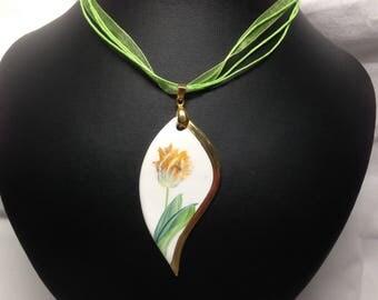 Yellow Tulip pendant