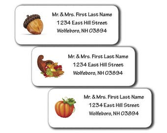 Autumn - Thanksgiving - Design Labels - DIY Printable - Customizable - Editable PDF