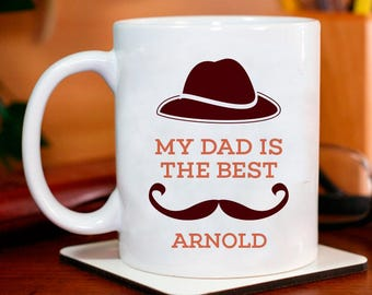 My Dad is the Best Personalized Mug for Father's Day