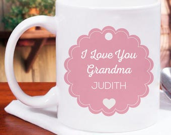 Very Attractive And Beautiful I Love You Grandma Personalized Mug