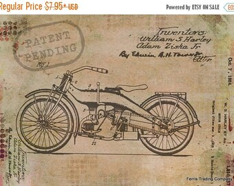 ON SALE Harley Davidson - Motorcycle - Patent - Print - Photo - Photograph - Mechanic - Racing - Hell's Angels - Cycle - Engine - Club - Cru