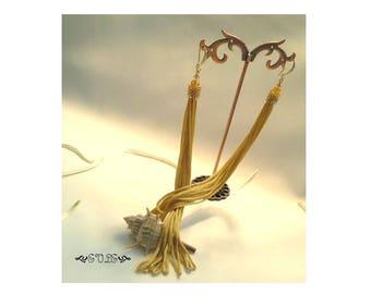 15% off Limited Time Long Tassel Earrings, Shoulder Duster Earrings, Fringe Earrings, Gold Tassel Earrings, Miyuki, Bridal, Long earrings
