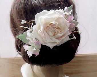 Wedding Hair Accessories,Hairpin floral, pink flowers, for hair, hair flowers,Wedding Fascinator, Bridal Hair Clip, Flower Hair Clip