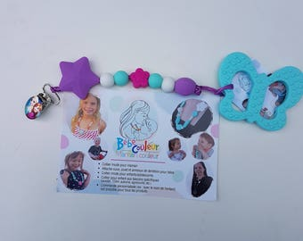Pacifier holder with teething toy