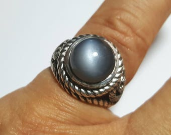 Silver Ring with Moonstone from Brazil