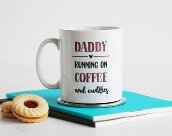 Father's Day Personalised Mug, Coffee And Cuddles