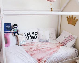 Toddler House Bed With Slats