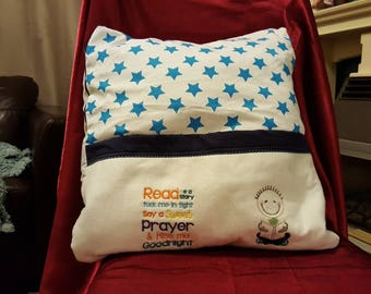 Reading cushion cover
