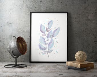 Watercolor (original) soft foliage
