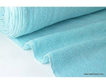 Eponge coton turquoise lisiere cousue fermée x50cm